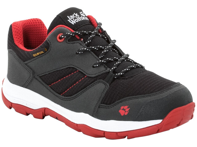 Jack Wolfskin MNT Attack 3 XT Texapore Matalat Kengät Lapset, black/red